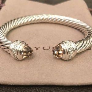 Jewelry - David Yurman Cuff Bracelet Morganite Diamonds 7mm